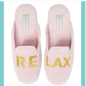 Patricia Green RELAX Pink Velour Mules Sizes 5-8